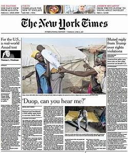International New York Times 6 April 2017 PDF download free