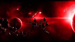 Ruby Red Galaxy Desktop Background HD 3840x1080 | deskbg.com