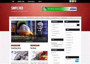 simple red blogger template lovely templates With blogger templates free download 2012