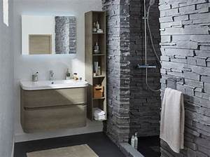 salle de bains zen elle decoration With porte de douche coulissante avec salle de bain zen pierre