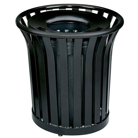 designer trash can rubbermaid fgmt32plbk 36 gal outdoor decorative trash can