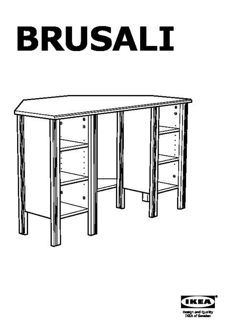 petit bureau d angle ikea brusali bureau d 39 angle brun ikea ikeapedia