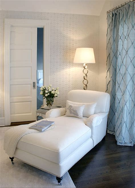 White Lounge Chair For Bedroom by White Chaise Lounge Transitional Bedroom Elsa Soyars
