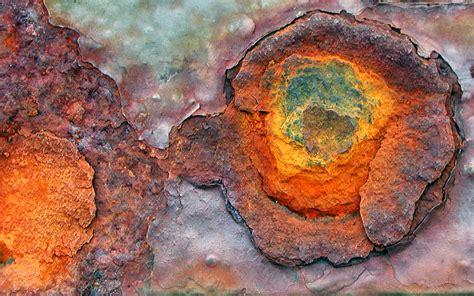 rust patina metal on rust peeling paint and