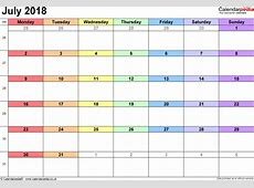 July 2018 Calendar With Holidays UK calendar template excel