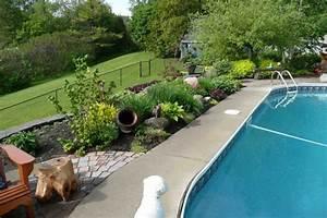 Massif Autour Piscine : que planter pr s d 39 une piscine horticulture maison le soleil qu bec ~ Farleysfitness.com Idées de Décoration