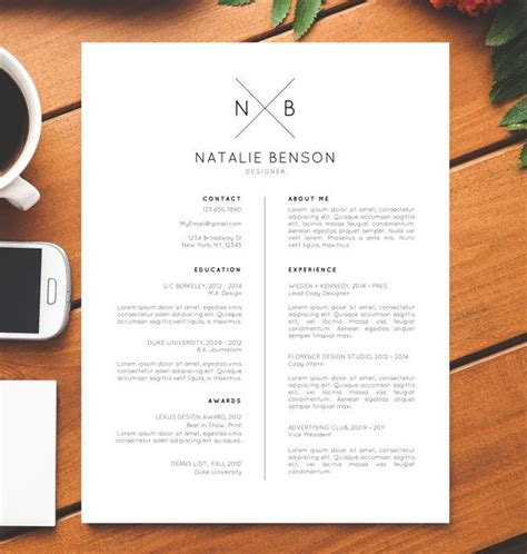 Modernen Lebenslauf by Modern Resume Template Cover Letter Template For Word