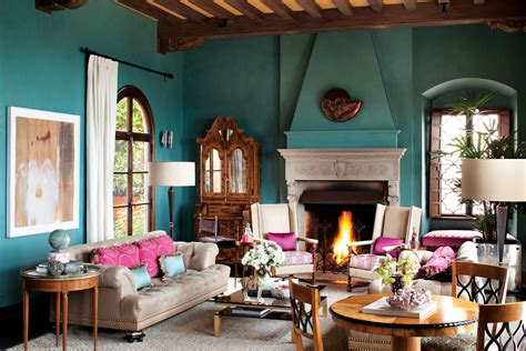 Living Room Color Schemes With Turquoise by Moorish Living Room Interiors By Color