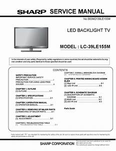 Manual De Servi U00e7o Televisor Led Sharp Lc-39le155m  By Portal Da Eletr U00f4nica