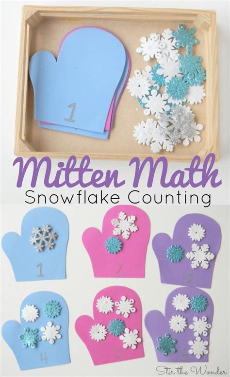 mitten math snowflake counting for preschoolers counting 768 | 3414bfbd66f8358367c4ad7d172f7d94