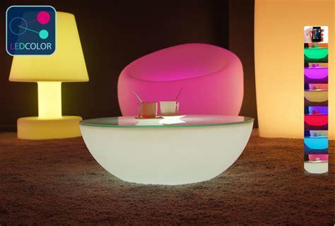 Table Basse Lumineuse Led Multicolore Sans Fil