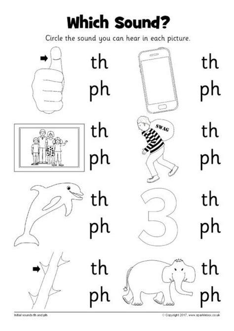 ph phonics worksheets  images phonics worksheets