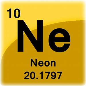 Image Gallery neon atom periodic table