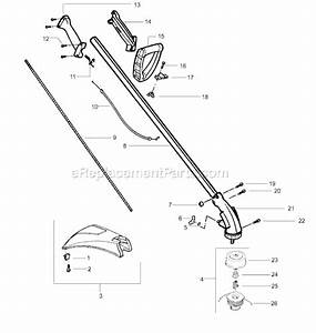 Weed Eater Featherlite Sst Le Parts List And Diagram