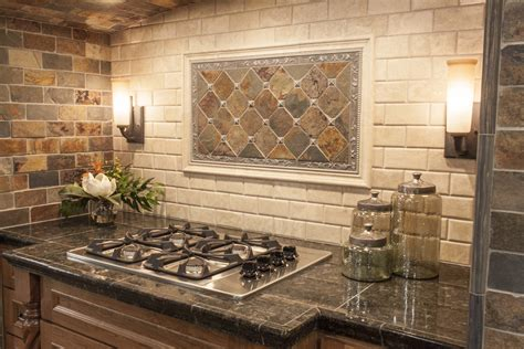 Rustic Kitchen Backsplash Ideas by Modern Yet Rustic This Hearth Style Backsplash Features