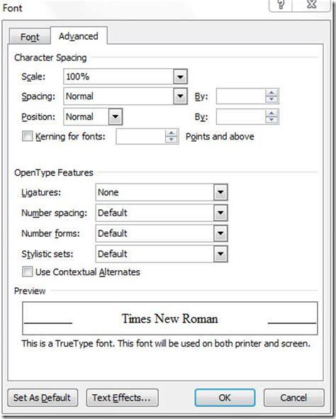 Change Word Default Template by Change Default Font Settings Styles In Word 2010