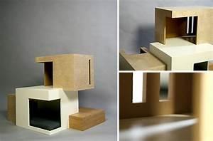 Habitat, U0026, 39, 11, Modern, Cat, House, By, Sarah, Chou, U2022, Hauspanther