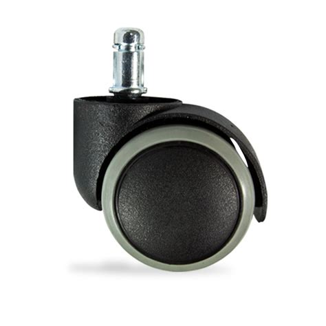 grey rubber replacement swivel wheel office chair caster