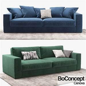 sofa boconcept cenova 3d model cgtrader With boconcept sofa bed