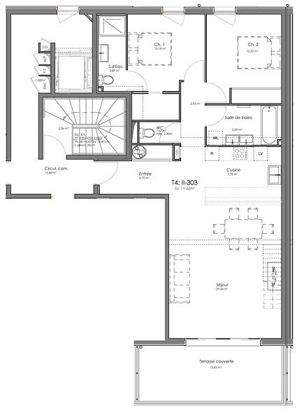 plan d appartement t4