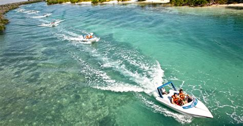 Boat Ride Cancun by Speedboat Jungle Tour Olympus Tours Cancun