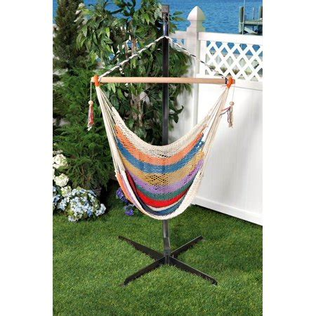 Cotton Hammock Chair by Woven Cotton Rope Hammock Chair Blue Walmart
