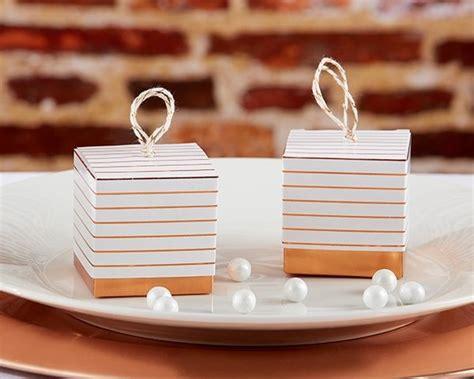 Striped Copper Foil Favor Box (set Of 24