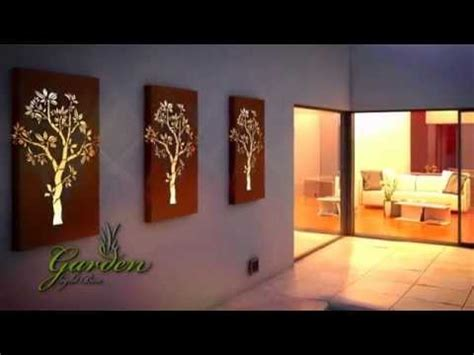 metal wall garden light box youtube