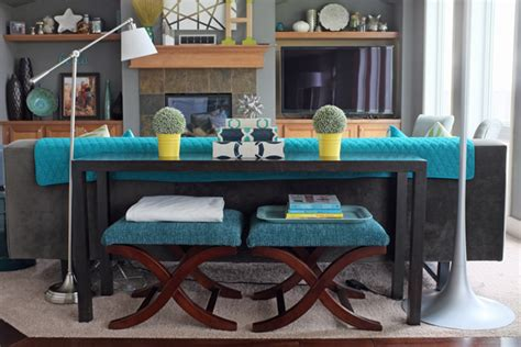 Decorating Sofa Table by How To Style A Sofa Table