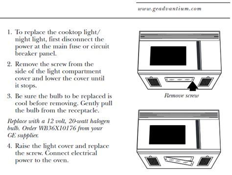 replace  advantium oven surface light