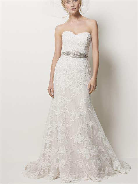 sweetheart strapless lace wedding dressescherry marry