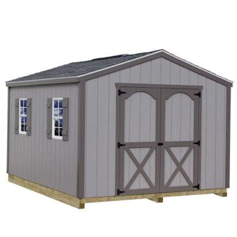 Home Depot Storage Sheds Kits by Best Barns Elm 10 Ft X 8 Ft Wood Storage Shed Kit With