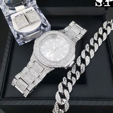 41% off Other - HIP HOP QUAVO WHITE GOLD PT LUXURY WATCH