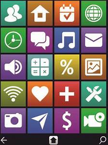 Vintage mobile phone icons Free vector in Encapsulated ...