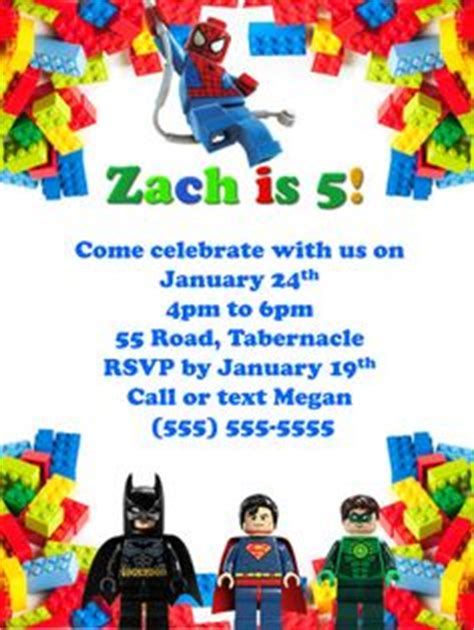 printable lego marvel birthday party invitation digital  customizable   party