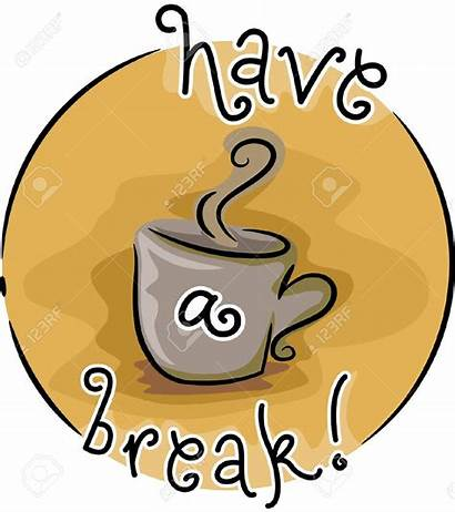 Break Coffee Clip Clipart Sign Morning Vector