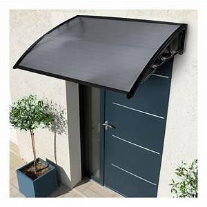 auvent de porte 80x120 cm marquise d39accueil teintee With porte d entrée alu avec beton ciré leroy merlin salle de bain
