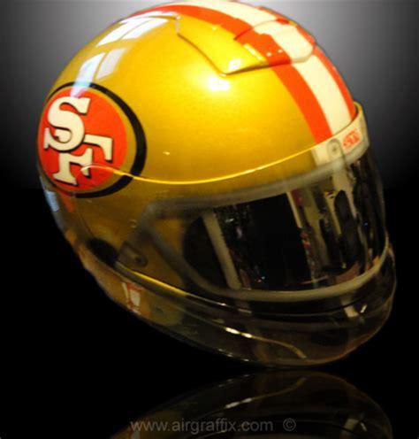 49ers helmet helmets motorcycle nfl custom airbrushed shoei painted themed seahawks football icon seattle