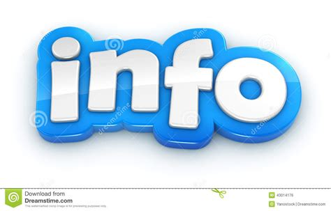 Info 3d Text Word On White Background Stock Illustration