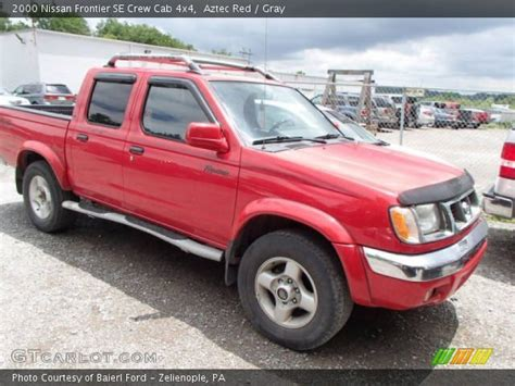 nissan 2000 4x4 aztec red 2000 nissan frontier se crew cab 4x4 gray