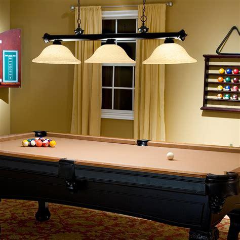 buy pool table light jarvis pool table island light bronze at hayneedle