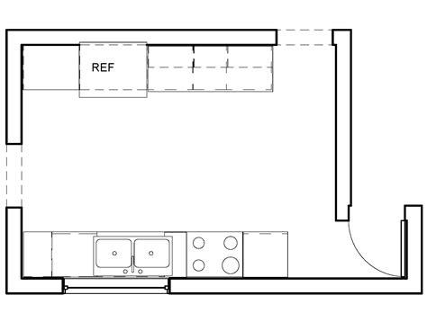 draw a floor plan drawing kitchen floor plans