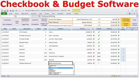 personal finance software budget spreadsheet