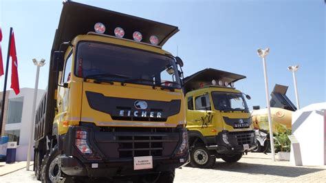volvo group trucks technology eicher unveils new pro 6000 and 8000 range of tippers