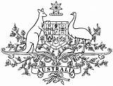 Coat Arms Australian Symbols Colouring Template Arm Printablecolouringpages Coloring Commonwealth Larger Credit Emblems sketch template