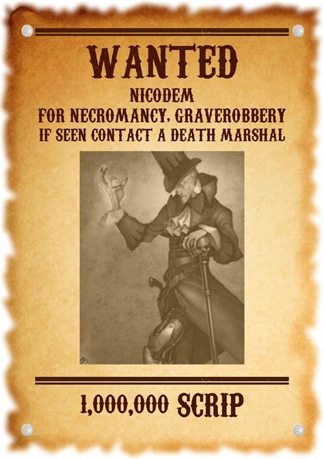 Malifaux Musings: Wanted: Nicodem.