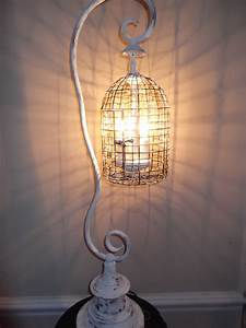 birdcage chandelier table lamp shabby chic white vintage With birdcage chandelier floor lamp