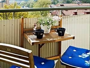 Table De Balcon : o trouver une table de balcon rabattable joli place ~ Teatrodelosmanantiales.com Idées de Décoration