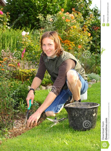 Gardening Woman Stock Image Image Of Horticulture