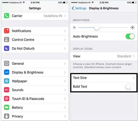 how to change text size on iphone change text size and style in ios 9 iphone ipod touch